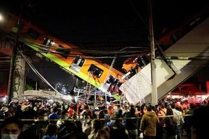 Cầu vượt tuyến metro đô thị Mexico đổ sập, gần 100 người thương vong