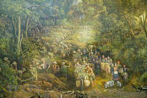 Cận cảnh bức tranh Panorama tái hiện Chiến dịch Điện Biên Phủ