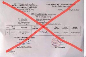 Đà Nẵng: Xử phạt đối tượng đăng tải kết quả xét nghiệm SARS-CoV-2 giả lên mạng xã hội