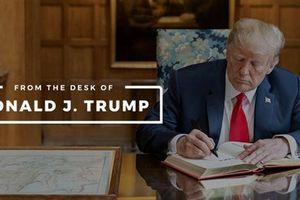 Ông Trump với slogan trên nền tảng riêng: Cứu lấy nước Mỹ...