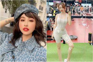 Vợ hai Minh Nhựa khoe ảnh phòng tập gym, netizen khen hết lời