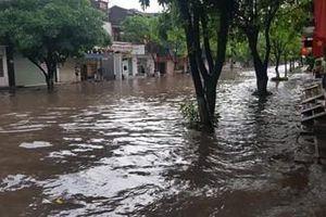 Thái Nguyên: Nhiều tuyến đường bị ngập lụt sau trận mưa lớn