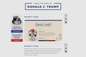 Ông Trump tái xuất trên mạng xã hội với nền tảng giống Twitter
