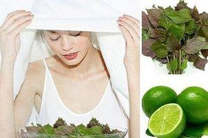 5 lợi ích của xông mặt bằng lá tía tô