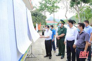 Phó Bí thư Thường trực Tỉnh ủy Lại Thế Nguyên kiểm tra công tác bầu cử tại huyện Quan Hóa và Quan Sơn