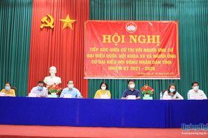 Ứng cử viên Đại biểu Quốc Hội và HĐND các cấp tiếp xúc cử tri tại huyện Trà Bồng