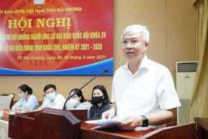 Ứng viên ĐBQH và đại biểu HĐND tỉnh Hải Dương tiếp xúc cử tri