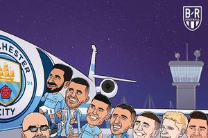 Biếm họa 24h: Man City 'nhuộm xanh' Champions League