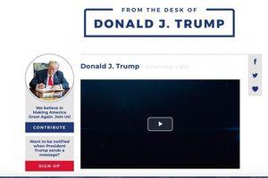 Ông Trump công bố trang mạng cá nhân mới