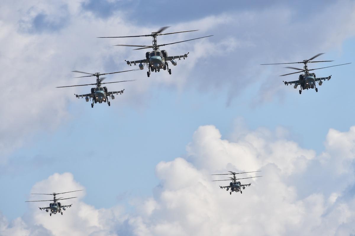 Dàn trực thăng cực khủng của Nga diễn tập cho ngày 9/5