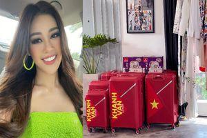 Trong 15 chiếc vali cùng Hoa hậu Khánh Vân đến Mỹ có gì?