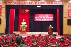 Bộ CHQS Nghệ An, Hòa Bình: Quán triệt, triển khai Nghị quyết Đại hội XIII