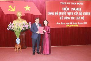 Đồng chí Phạm Gia Túc được phân công làm Bí thư Tỉnh ủy Nam Định
