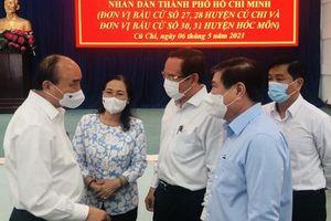 Chủ tịch nước Nguyễn Xuân Phúc: Củ Chi và Hóc Môn có nhiều tiềm năng phát triển