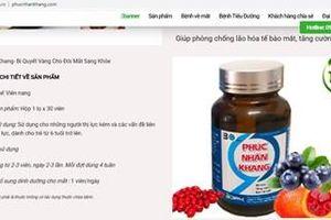Không mua và sử dụng sản phẩm Phúc Nhãn Khang