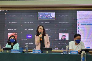 Lãnh đạo Trường ĐH Mở Hà Nội đối thoại trực tuyến với gần 500 học viên, sinh viên