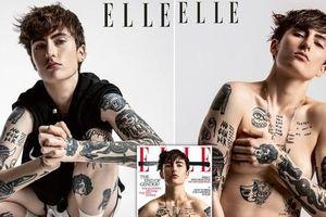 Người mẫu phi nhị giới ngực trần trên tạp chí, tiết lộ lý do không cắt bỏ vòng một