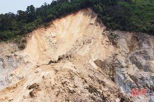 Xử phạt chủ mỏ đá khai thác không đúng thiết kế gây sạt lở đất rừng ở Hà Tĩnh