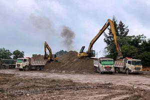 Cao tốc Mai Sơn-Quốc lộ 45 thiếu vật liệu thi công và bãi đổ thải
