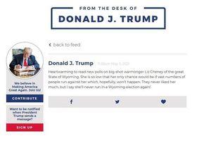 Bị Facebook, Twitter cấm cửa, ông Trump cố tìm kế trở lại 'cõi mạng'