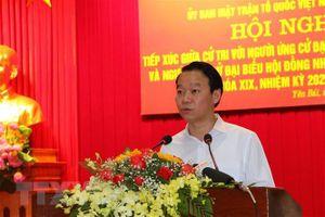 Hội nghị tiếp xúc cử tri với người ứng cử diễn ra dân chủ, công khai