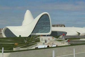 Chiêm ngưỡng vẻ đẹp khác lạ của công trình kiến trúc 'Aliyev' ở Baku, Azerbaijan