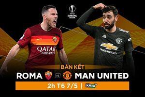 Nhận định lượt về bán kết Europa League giữa Roma và MU, trực tiếp trên VTVcab ON