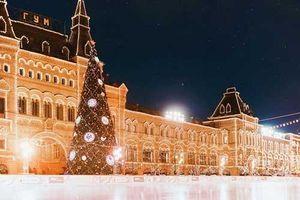 Ngất ngây với cảnh mùa đông đẹp như cổ tích ở Thủ đô nước Nga