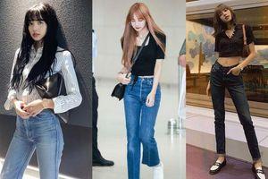 Học Lisa 13 cách diện quần jeans siêu đẹp