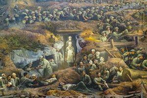 Bức tranh Panorama tái hiện toàn cảnh Chiến dịch Điện Biên Phủ đã được hoàn thiện đến 99%