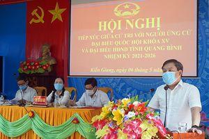 Những người ứng cử đại biểu Quốc hội và đại biểu HĐND tỉnh tiếp xúc cử tri