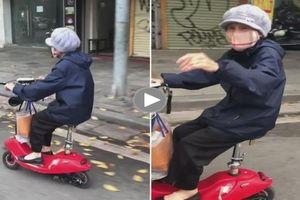 Năng lượng tích cực: Biểu cảm của cụ bà lúc lái xe khiến cộng đồng thích thú