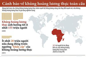 Infographic: Nguy cơ xảy ra khủng hoảng lương thực toàn cầu