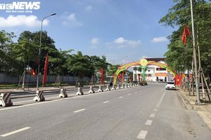 Đường phố Thái Bình vắng tanh sau lệnh giãn cách xã hội
