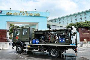 Phun khử khuẩn toàn bộ Bệnh viện K cơ sở Tân Triều