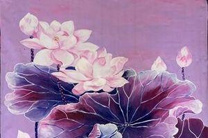 108 bức tranh hoa sen dành tặng, tri ân người yêu mến Phật giáo