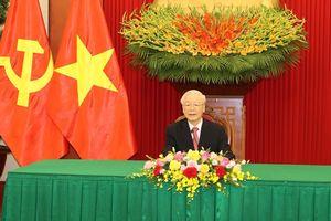Tổng Bí thư Nguyễn Phú Trọng điện đàm với Bí thư thứ nhất Đảng Cộng sản Cu-ba