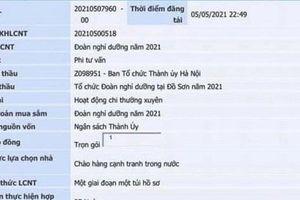 Thực hư thông tin Hà Nội đấu thầu cho cán bộ đi nghỉ dưỡng khi đang có dịch Covid-19