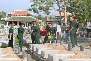 Thừa Thiên Huế: An táng 14 hài cốt liệt sĩ quy tập tại Lào