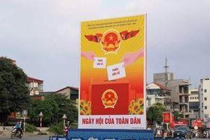 Phong phú hình thức cổ động trực quan tuyên truyền bầu cử đại biểu Quốc hội khóa XV