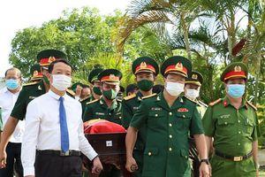 Truy điệu và an táng 14 liệt sĩ hi sinh trên chiến trường nước bạn Lào
