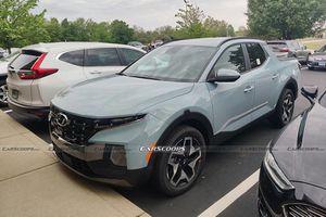 Hyundai Santa Cruz 2022 lộ diện hình ảnh 'bằng xương, bằng thịt'