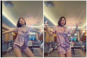 Quay clip 13s, hot girl Trâm Anh bị netizen soi vòng 1 bất thường