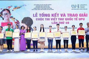 Vĩnh Phúc: 3 cá nhân, 1 tập thể đạt giải tại Cuộc thi viết thư quốc tế UPU