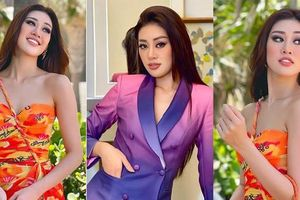 Sử dụng váy áo thông minh, Khánh Vân được nhà tài trợ Miss Universe khen trên livestream
