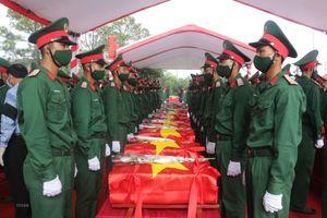 Nghệ An đón nhận và an táng 95 hài cốt liệt sỹ hy sinh tại Lào