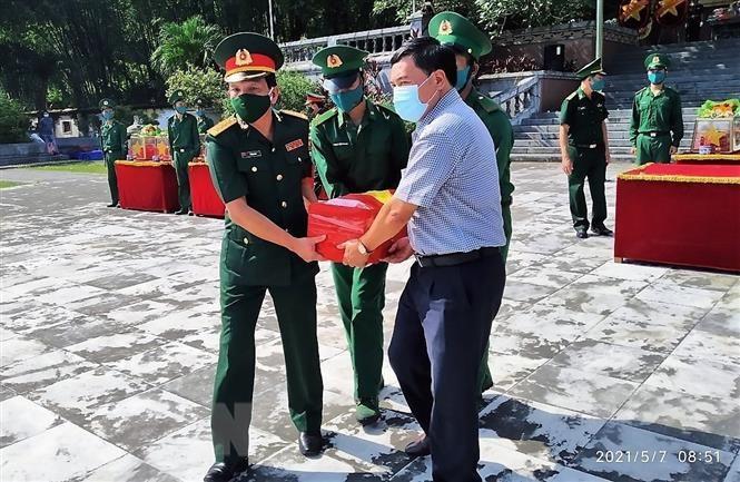 Thanh Hóa: Truy điệu, an táng 15 hài cốt liệt sỹ được tìm thấy tại Lào