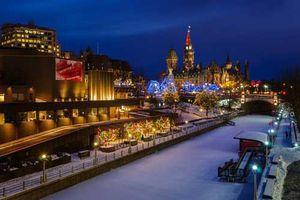 Kênh đào Rideau, Canada - Sân trượt băng dài nhất thế giới