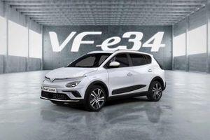 Xe điện VinFast VF e34 chính thức lộ diện