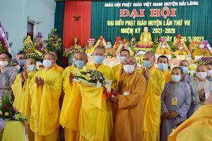 Đại đức Thích Từ Nguyện được tái suy cử Trưởng ban Trị sự GHPGVN huyện Hải Lăng